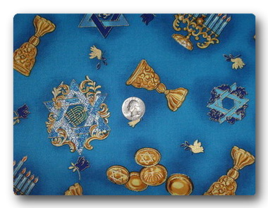 Menorah-Coins-Star of David-