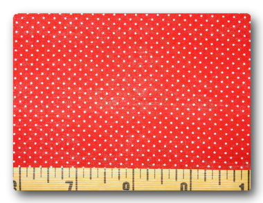 Mini Dots on Red-