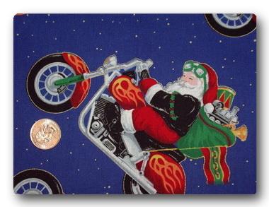 Motorcycle Santa-