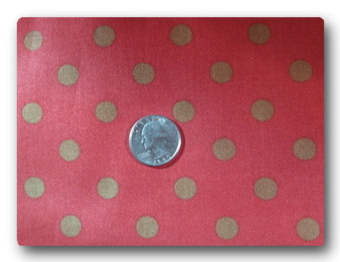 Olive Dots on Red-
