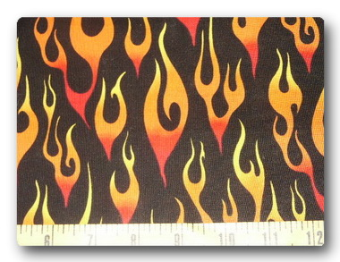 Orange Flames on Black-