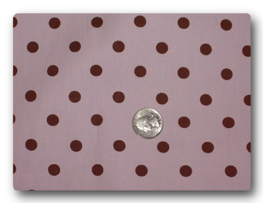Brown Dots on Pink-