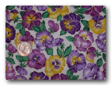 Pansy - Purple and Yellow Pansies with Gold-