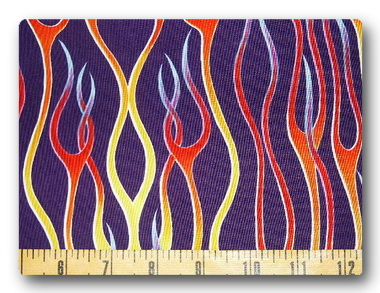 Rainbow Flames on Purple-