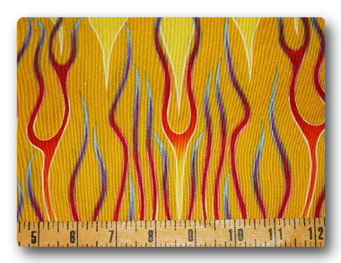 Rainbow Flames on Yellow-