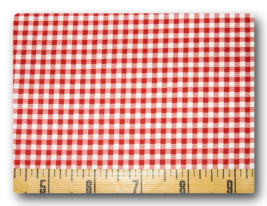Gingham Red-