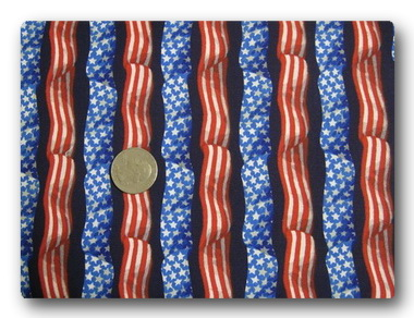Flag - Stars and Stripes Ribbons on Navy Blue-