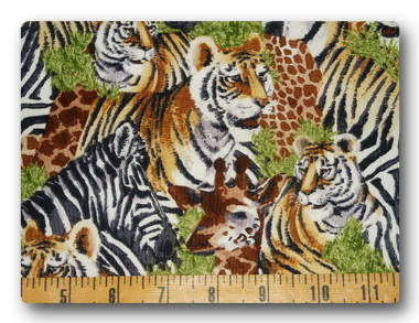 Safari - Tiger, Giraffe and Zebra-