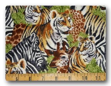 Safari - Tiger, Giraffe and Zebra-