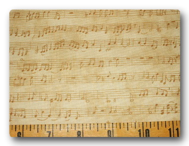 Tan Music Notes on Parchment-