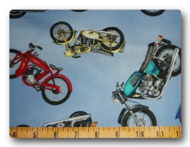Bikes on Blue-